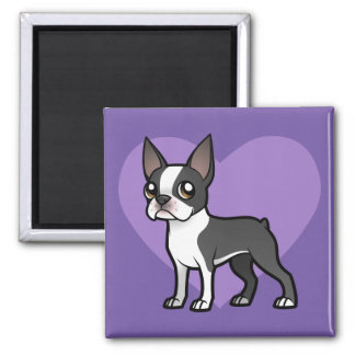 Haga a su propio mascota del dibujo animado imán cuadrado