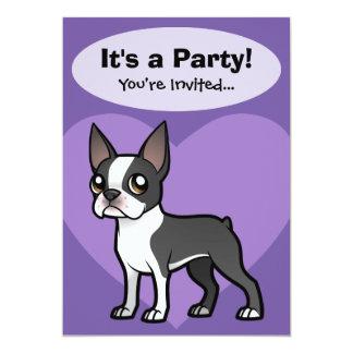 """Haga a su propio mascota del dibujo animado invitación 5"""" x 7"""""""