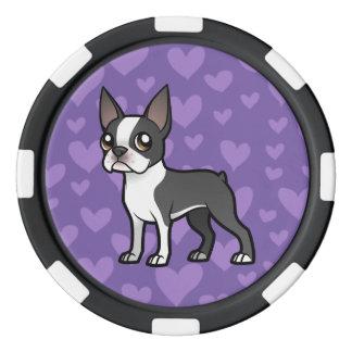 Haga a su propio mascota del dibujo animado juego de fichas de póquer