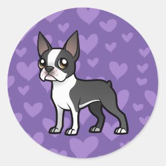 Haga a su propio mascota del dibujo animado etiquetas redondas