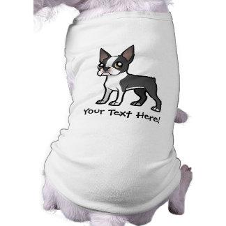 Haga a su propio mascota del dibujo animado playera sin mangas para perro