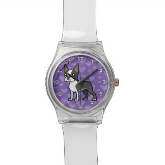 Haga a su propio mascota del dibujo animado reloj de mano