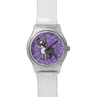 Haga a su propio mascota del dibujo animado relojes
