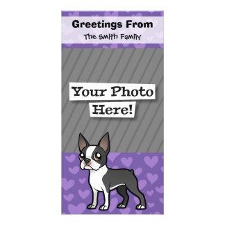 Haga a su propio mascota del dibujo animado plantilla para tarjeta de foto