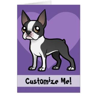 Haga a su propio mascota del dibujo animado tarjeta de felicitación