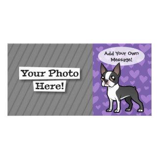 Haga a su propio mascota del dibujo animado tarjetas fotográficas personalizadas