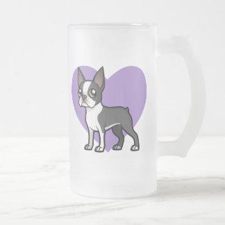 Haga a su propio mascota del dibujo animado taza de cristal
