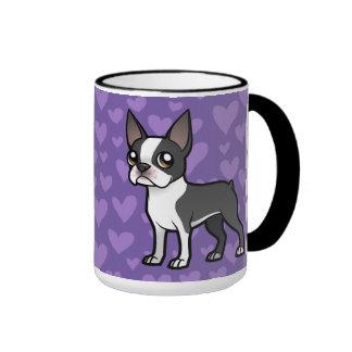 Haga a su propio mascota del dibujo animado taza de dos colores