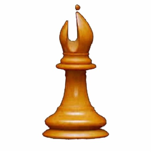 Haga a su propio obispo del blanco del juego de aj esculturas fotograficas