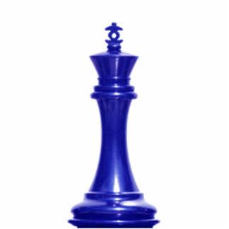 Haga a su propio rey del azul del juego de ajedrez esculturas fotograficas
