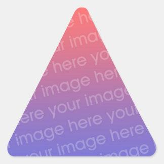 Haga a sus propios pegatinas del triángulo pegatina triangular
