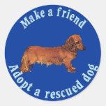 Haga a un amigo - Dachshund Etiqueta Redonda