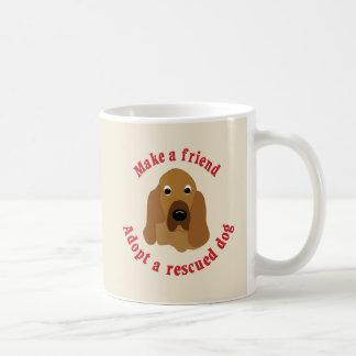 Haga a un amigo - sabueso taza