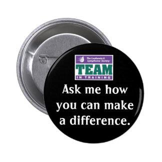 Haga a un equipo de la diferencia en el entrenamie pin redondo de 2 pulgadas