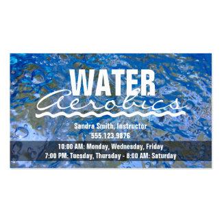 Haga aeróbicos de agua azul chispeantes del tarjetas de visita