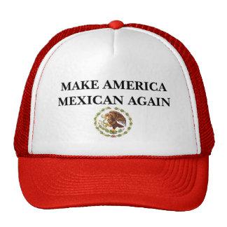 Haga al mexicano de América otra vez Gorros Bordados