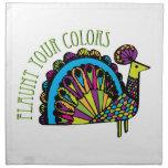 Haga alarde de sus colores servilletas de papel
