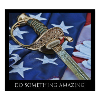 Haga algo poster asombroso