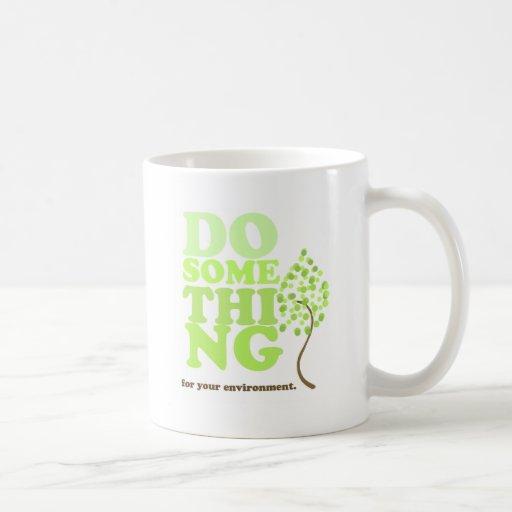 Haga algo taza básica blanca