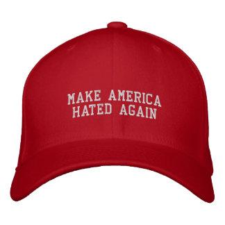 Haga América odiada otra vez Gorra Bordada