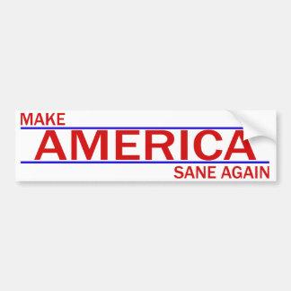 Haga América otra vez a la pegatina para el Pegatina Para Auto