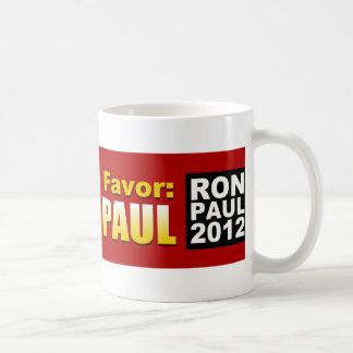 Haga América un favor: Vote a Ron Paul 2012 Taza Clásica