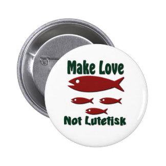 Haga amor no Lutefisk al escandinavo divertido Pin Redondo De 2 Pulgadas