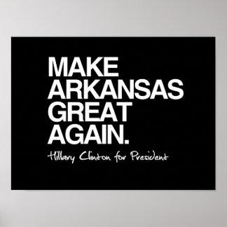 Haga Arkansas a gran otra vez - Hillary para el Póster