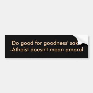 Haga bueno para el motivo de las calidades pegatina para auto
