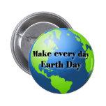 Haga cada botón del Día de la Tierra del día Pins