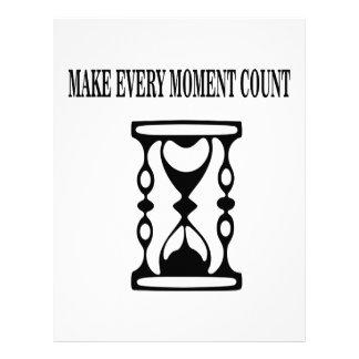 Haga cada cuenta del momento membrete personalizado