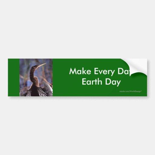 Haga cada Día de la Tierra del día Pegatina Para Auto
