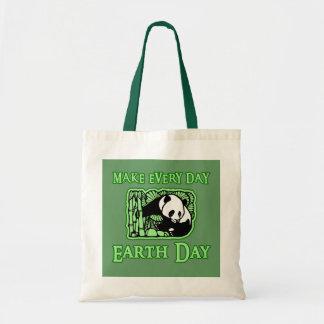 Haga cada Día de la Tierra del día con la panda To Bolsa Tela Barata
