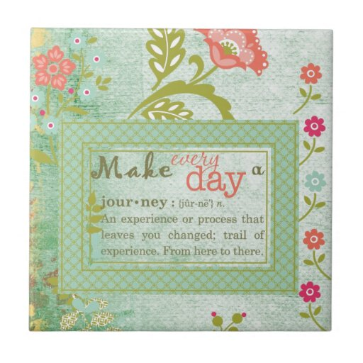 Haga cada día un viaje azulejos ceramicos