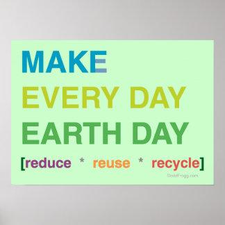 Haga cada poster del Día de la Tierra del día