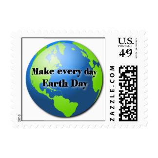 Haga cada sello del Día de la Tierra del día