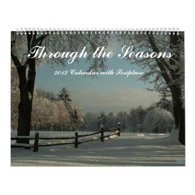 Haga calendarios con las estaciones 2012 con escri