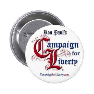 Haga campaña para el botón de la libertad - Pin RO