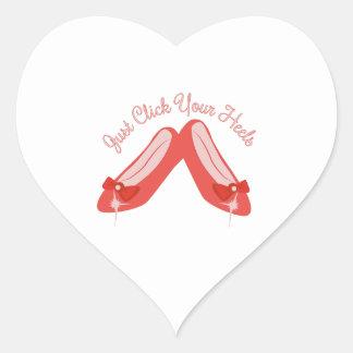 Haga clic sus talones pegatina en forma de corazón