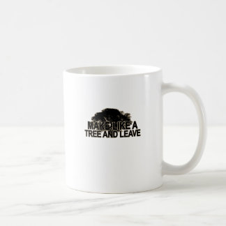Haga como un árbol T-Shirt.png oscuro Taza Básica Blanca