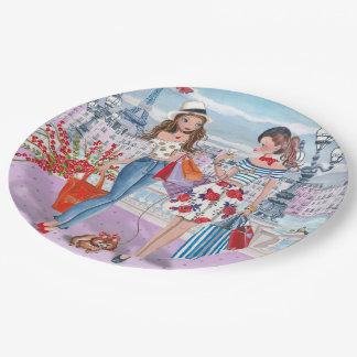 Haga compras 'hasta que usted cae las placas de platos de papel