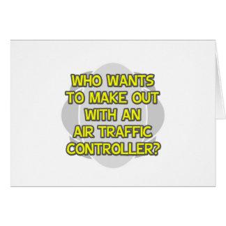 Haga con un controlador aéreo tarjeta de felicitación