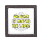Haga con un juez cajas de recuerdo de calidad