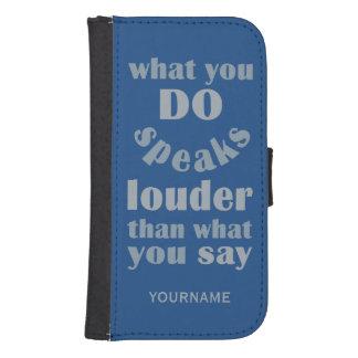 Haga contra para decir las carteras de encargo del funda cartera para teléfono