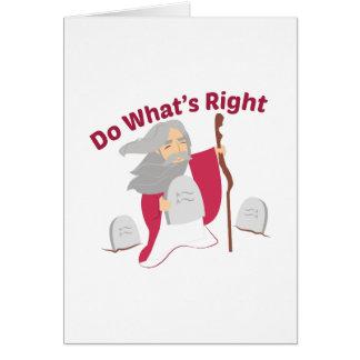 Haga cuál correcto tarjeta de felicitación
