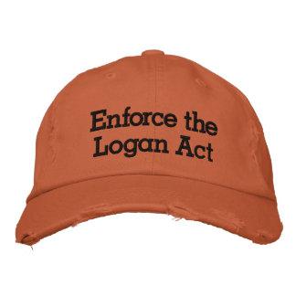 Haga cumplir el acto de Logan Gorra De Beisbol Bordada