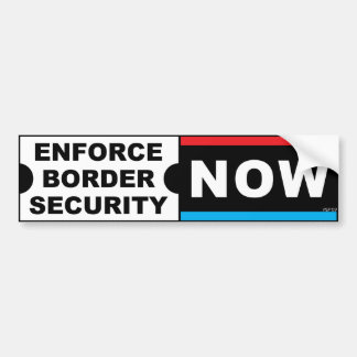 Haga cumplir la seguridad de fronteras etiqueta de parachoque