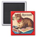 Haga daño el gato - anuncio del vintage imanes de nevera
