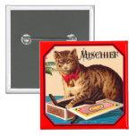 Haga daño el gato - anuncio del vintage pin