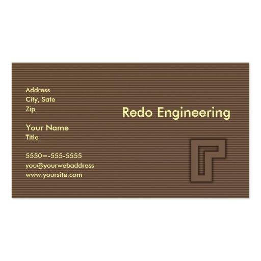 Haga de nuevo la ingeniería tarjetas de visita